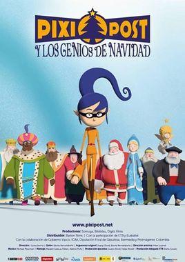 Cartel oficial en español de: Pixi Post y los genios de Navidad