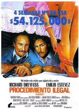 Cartel oficial en español de: Procedimiento ilegal