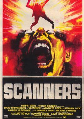 "Cartel ""Scanners"" italiano"