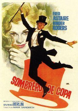 Cartel oficial en español de: Sombrero de copa