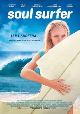 Cartel oficial en español de: Soul surfer