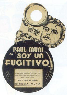 Cartel oficial en español de: Soy un fugitivo