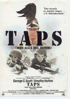 Cartel oficial en español de: Taps, más allá del honor