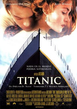 Cartel oficial en español de: Titanic