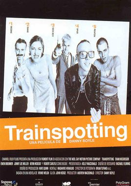 Cartel oficial en español de: Trainspotting