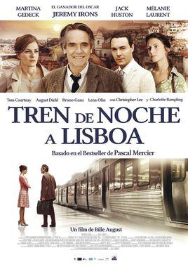 Cartel oficial en español de: Tren de noche a Lisboa