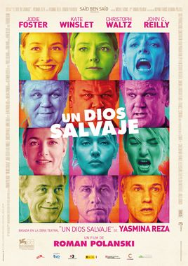 Cartel oficial en español de: Un dios salvaje