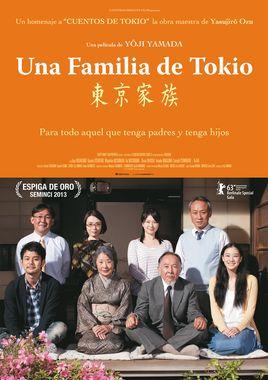 Cartel oficial en español de: Una familia de Tokio
