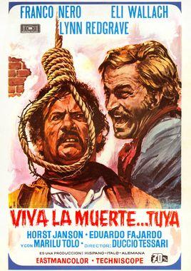 Cartel oficial en español de: Viva la muerte... tuya!