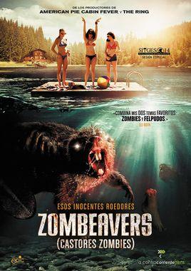 Cartel oficial en español de: Zombeavers (Castores zombies)
