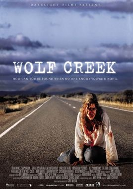 "Cartel ""Wolf Creek"" australiano"