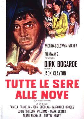 """Cartel de """"A las nueve cada noche"""" italiano"""