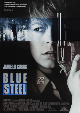 """Cartel """"Acero azul"""" norteamericano"""