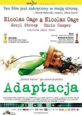"""Cartel """"Adaptation (El ladrón de orquideas)"""" polaco"""