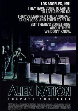 """Cartel """"Alien nación"""" norteamericano"""