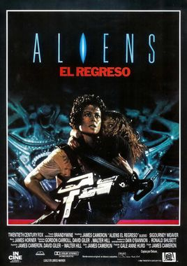 Cartel oficial en español de: Aliens, el regreso