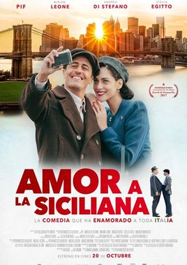 Cartel oficial en español de: Amor a la siciliana