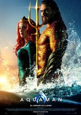 Cartel oficial en español de: Aquaman