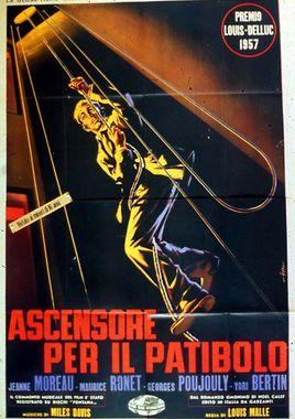"""Cartel de """"Ascensor para el cadalso"""" italiano 4"""