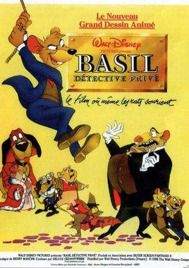 "Cartel ""Basil, el ratón superdetective"" francés"