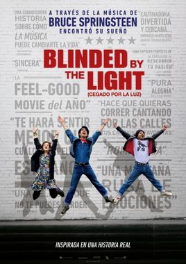 Cartel oficial en español de: Blinded by the Light (Cegado por la luz)
