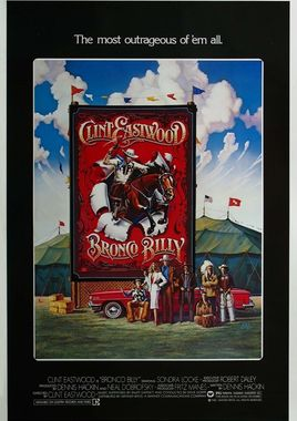 "Cartel ""Bronco Billy"" norteamericano"