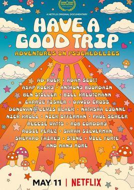 Cartel oficial en español de: Buen viaje: Aventuras psicodélicas