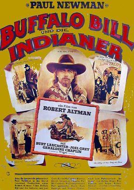 """Cartel de """"Buffalo Bill y los indios"""" alemán"""