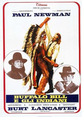 "Cartel de ""Buffalo Bill y los indios"" italiano"