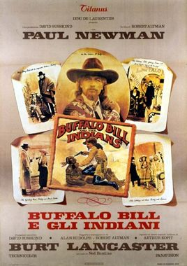 "Cartel de ""Buffalo Bill y los indios"" italiano 2"