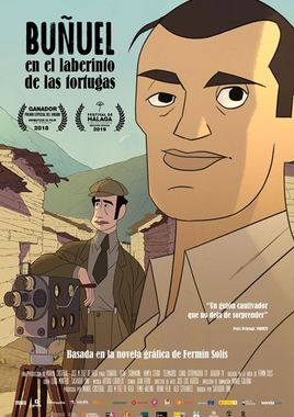 Cartel oficial en español de: Buñuel en el laberinto de las tortugas
