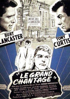 "Cartel teaser ""Chantaje en Broadway"" francés"