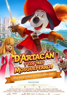 Cartel oficial en español de: D'Artacán y los tres Mosqueperros