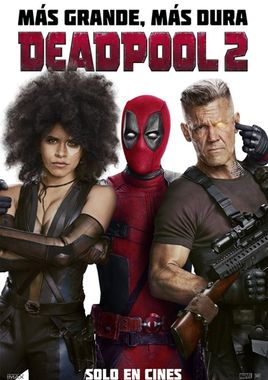 Cartel oficial en español de: Deadpool 2