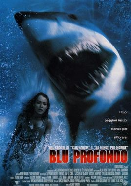 "Cartel de ""Deep Blue Sea"" italiano"