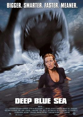 "Cartel de ""Deep Blue Sea"" norteamericano"