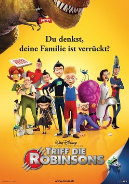 """Cartel de """"Descubriendo a los Robinsons""""alemán"""