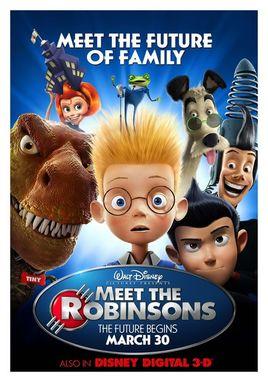 """Cartel de """"Descubriendo a los Robinsons"""" norteamericano 1"""
