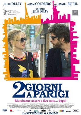 """Cartel """"2 días en París"""" italiano"""