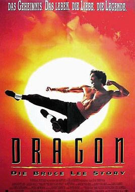 "Cartel de ""Dragon, la vida de Bruce Lee"" alemán"