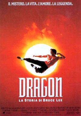 "Cartel de ""Dragon, la vida de Bruce Lee"" italiano"
