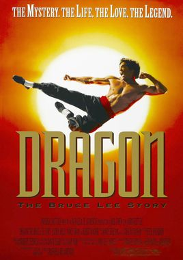 "Cartel de ""Dragon, la vida de Bruce Lee"" norteamericano"