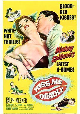 """Cartel """"El beso mortal"""" estadounidense"""
