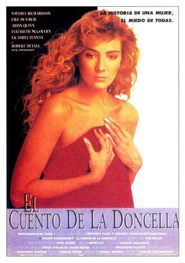 """Cartel """"El cuento de la doncella"""" español"""