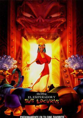 """Cartel de """"El emperador y sus locuras"""" español 2"""