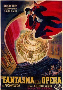 """Cartel de """"El fantasma de la ópera"""" italiano"""