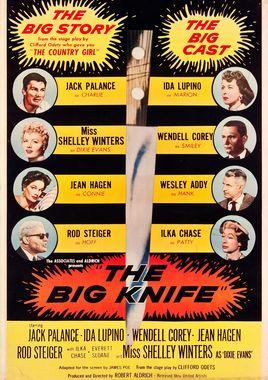 """Cartel de """"El gran cuchillo"""" norteamericano 2"""