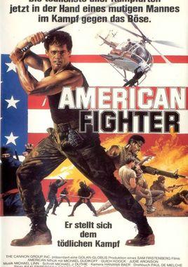 """Cartel """"El guerrero americano"""" alemán"""