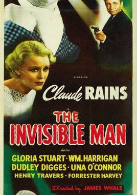 """Cartel """"El hombre invisible"""" norteamericano 5"""