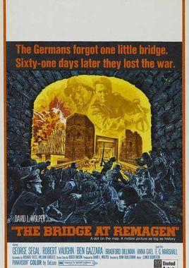 """Cartel de """"El puente de Remagen"""" norteamericano 3"""